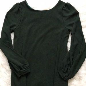 Hunter Green dress w/pockets